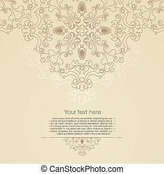 Oriental floral ornament background with place for your text