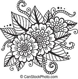 Oriental flower ornament
