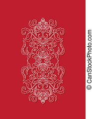oriental, fond, floral, sry, lanka, design.