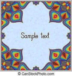 Oriental Frame Design with Mandala Pattern.