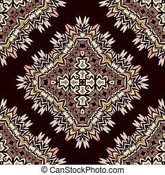 Oriental geometrical seamless pattern.