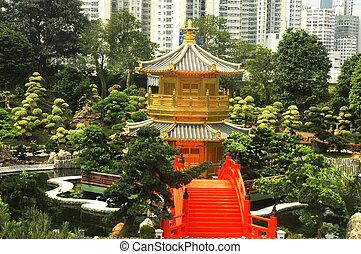 oriental golden pavilion