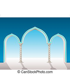 oriental gypsum archway - put on a background to frame