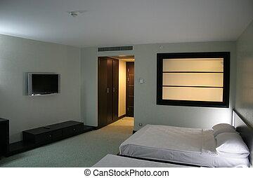 oriental, habitación de hotel