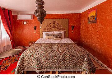 Oriental interior of a bedroom