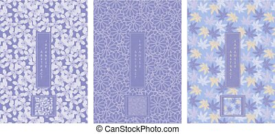 Oriental Japanese style abstract seamless pattern background...