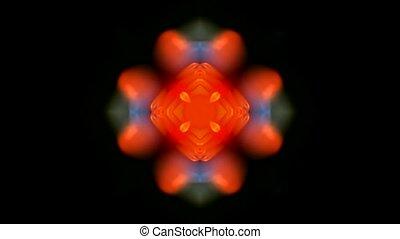 oriental lotus flower texture - orange rotation flower...
