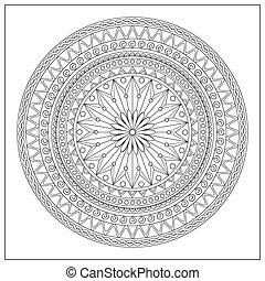 oriental, mandala, motifs