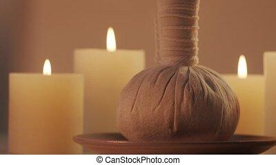 Oriental massage treatment composition. Spa procedures,...