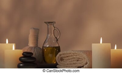 Oriental massage treatment composition. Spa procedures, ...