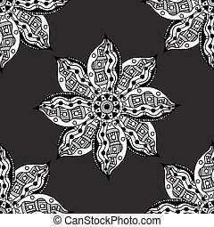Oriental monochrome ornament