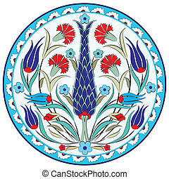 oriental ottoman design seven versi - series of patterns...