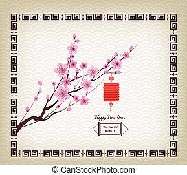 Oriental Paper Lantern, plum