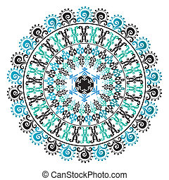 Oriental pattern and ornaments 07 - colorful circular...