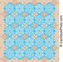 Oriental pattern with geometric ornaments.