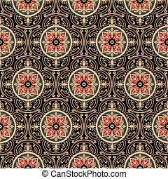 Oriental pattern - Oriental seamless pattern, antique...