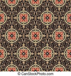 Oriental pattern - Oriental seamless pattern, antique...