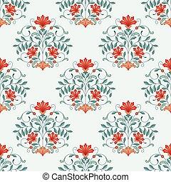 oriental, pattern., seamless