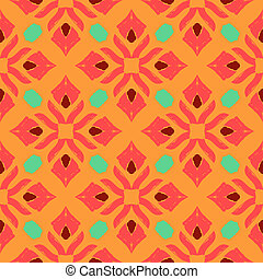 Oriental pattern with Indian, Thai ethnic motifs - Geometric...