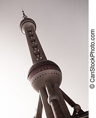 TV Tower - Oriental Pearl TV Tower in Shanghai, China.