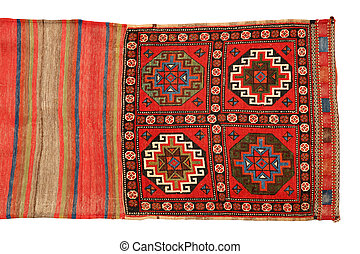 oriental pouch carpet on white background