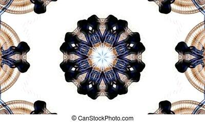 oriental religion flower pattern, kaleidoscope