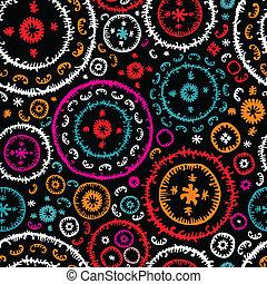 Oriental seamless pattern - Colorful seamless ethnic pattern...