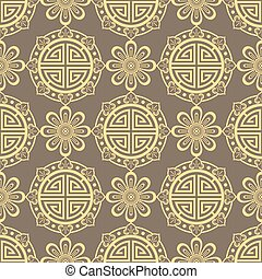 Oriental seamless pattern - korean, japanese or chinese traditional ornament