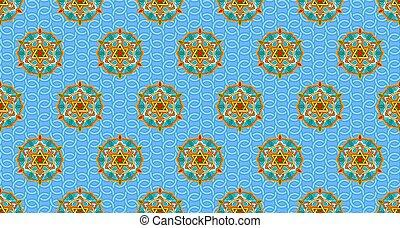 Oriental seamless pattern with stars