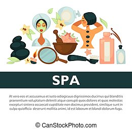 Oriental spa procedures for health and beauty promotional...