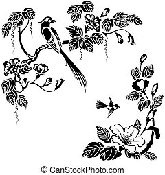 oriental style - Flowers and birds in the Oriental style....