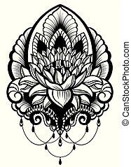 Oriental style, flower, lotus