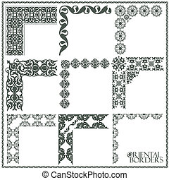 Oriental style ornament elements. All components are easy...