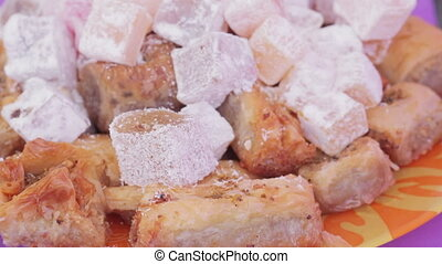 Oriental sweets - Spacing with various oriental sweets