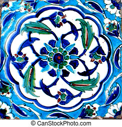 Oriental tiles - detail from Topkapi palace in Istanbul
