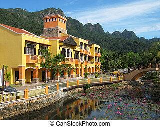 oriental, village., langkawi, isla, malasia