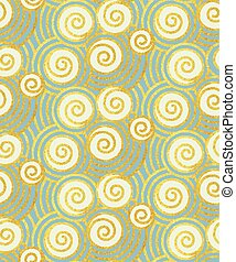 Oriental waves seamless pattern