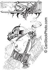 Oriental wise man.