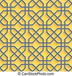 orientale, fondo, seamless, vettore, pattern.