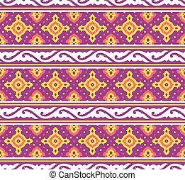 orientale, vettore, pattern., seamless, fondo