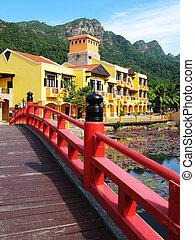 orientalische , village., langkawi, insel, malaysien