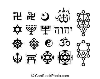 orientalny, sakralny, pobożna symbolika