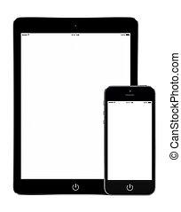 orientation, tablette, mockup, téléphone, informatique, portrait, intelligent