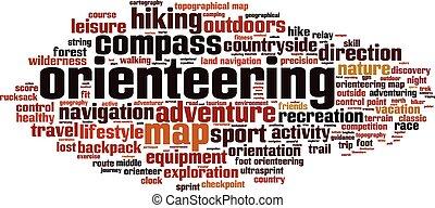 orienteering, 単語, 雲