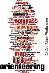 orienteering, woord, wolk
