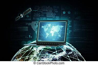 orientować się technologia, internet