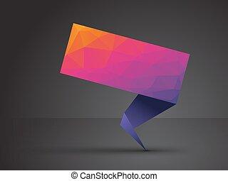 origami, étiquette, coloré