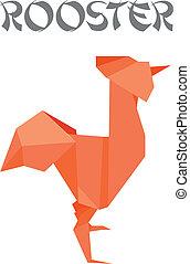 origami, おんどり