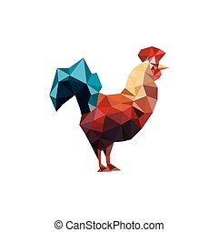 origami, イラスト, おんどり