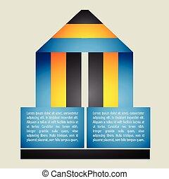 origami, スタイル, infographic, デザイン, 創造的
